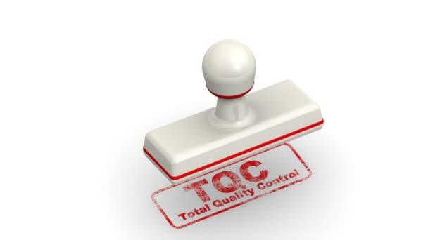 TQC. přepravní kontrola kvality. Razítka listy otisk
