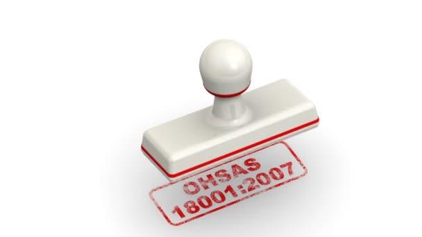 OHSAS 18001: 2007. Razítka listy otisk