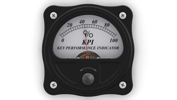 The Key Performance Indicator in action. The analog indicator is showing the level of KPI - Key Performance Indicator in percentages. Footage video
