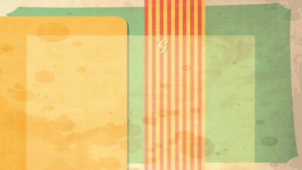 Tavaszi és Scaling Motion of 50S Stílus Konyha egy csomó zöld szőlő lóg egy ág és egy nagy levél egy koszos régi asztalterítő textúra háttér