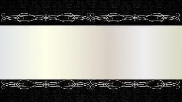Inerciální pohyb jednoduchých prvků tvořících klasickou pohlednici Konceptuální věda s černými vrstvami nad a pod bílou s věkem, aby se posunul do středu