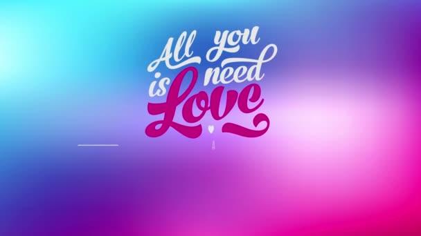 Elemek kaotikus mozgása Vicces, inspiráló szöveg szavakkal, amire szükséged van, az a szerelem és egy millió készpénzben, amit menő és modern betűkkel írtak.