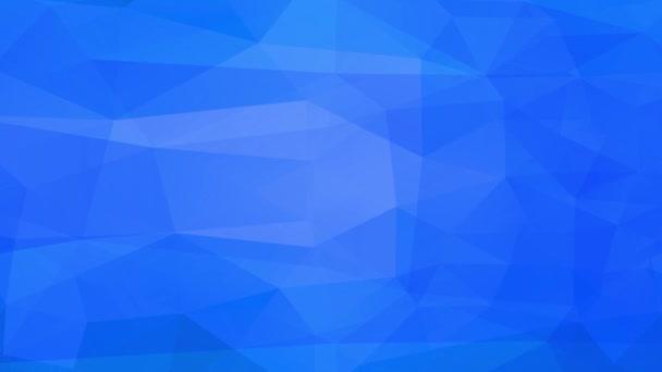 Ponořující Zoom efekt modré Abstrakce Figurka stává bílý mnohoúhelník a šestiúhelník tvar jako mrazení tání ve vlhkém