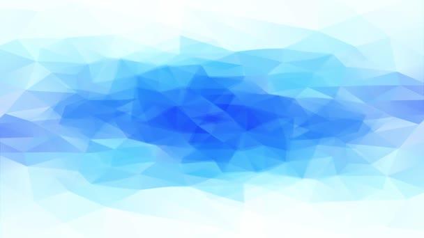 Úhlopříčka prominutí abstraktní zmrazené studeně vypadající vodní díra z 3D trojúhelníkových tvarů Vytváření geometrického ledu a sněhu