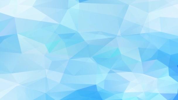 Lenyűgöző zoom hatása a szép absztrakció mozaik háromszögek világos és sötét kék fényesség alkotó Reliefs és 3D-s hatás