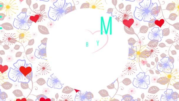 Inerciális tavaszi csúszda és skála mozgás hatása alkalmazott Valentin-napi szövegkoncepció Művészet szatén virág vázlat a jelenet és a szavak Belső szív segítségével áramló tipográfia