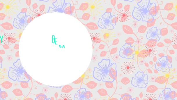 Spin and Bounce kombinálva Slide Motion of Valentines Day Szöveg Koncepció Művészet finom Virág Műalkotás a jelenet és a szavak a szív segítségével Cursive Tipográfia