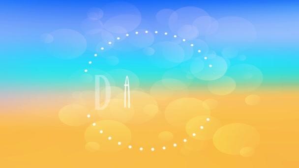 Rychlost Ramping Motion Effect aplikován na dobrodružné výlety pro letní sezónu s ročníkem textu Typografie psaná uvnitř tečkované kruh svítí nad měkkým pozadím s bublinami nakreslené kolem