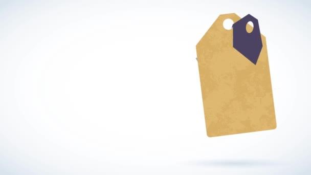 Motion Of Elements alkotó Kraft papír címke egy jó minőségű kávé termék segítségével klasszikus tipográfia és borsó rajzfilmek