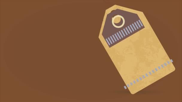 Speed Ramping és Scaling Motion Effect alkalmazott kávé felé megy hasonló egy vászon címke egy négyzet karton és a nyugati stílus tipográfia