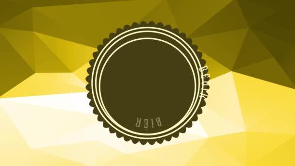 Motion Of Elements alkotó rock and roll egy ír típusú bár kelta tipográfia Helyezve egy 3D poligon textúra