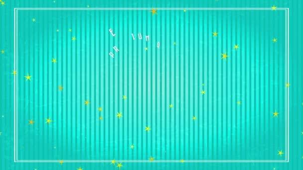 Lineáris Scaling Animation offshore és a nyár Írta és ki Luxus kör alakú grafika szöveges Fancy Value Summertime Paradise Körbeveszi a régi csíkos háttér