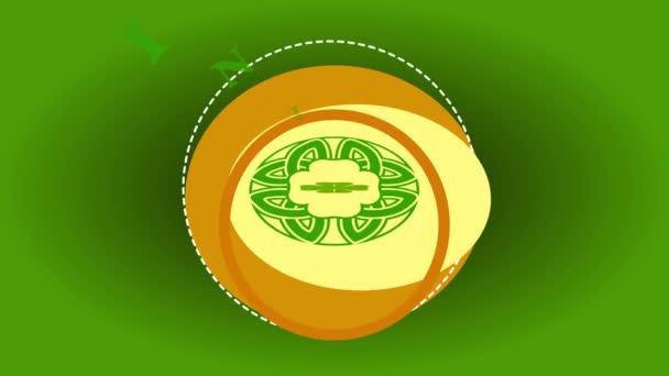 Sima Speed Ramping Animation Szent Patrik nap Ír ünnepi party meghívó borító kelta négylevelű lóhere kerekített grafikus