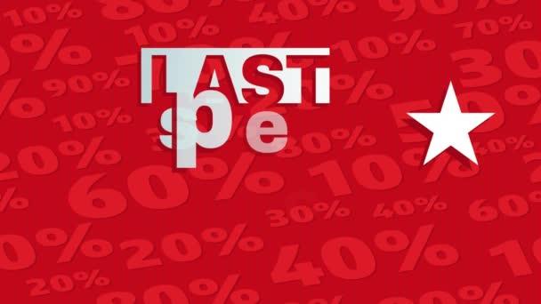 Tavaszi és Scaling Motion of Last Special Offer on Season Sale with Great Discounts Képviselve Ezüst betűkkel Striking Red Háttér