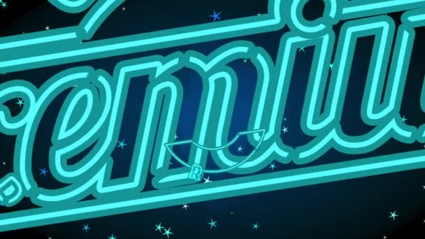Bouncing Flat Elements Forming Ragged Edge Neon Curve Peripheral Quality Premium Product With Vintage Letters For Commercial Shelf Advertising