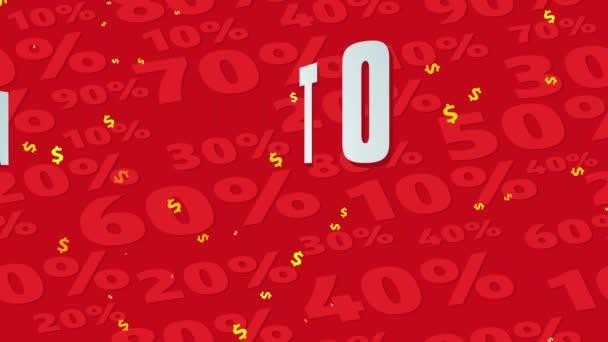 Springende federnde Bewegungseffekt auf glühende Deal Best Trade Geschrieben mit riesigen Eingabe über roten Hintergrund mit gegenüberliegenden Betrag Prozentzahlen ausgelegt