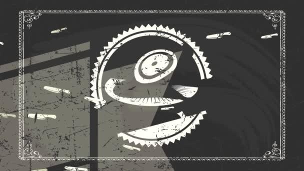 Tehetetlen pattogó marhahús gyilkos kiskereskedő Sign fehér Old-Fashioned Grunge Style Graphic a táblán textúra háttér