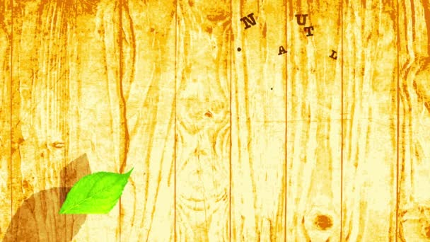 Scaling Easy Slowing Down With Spring Effect Animation Of Wooden Themed Fancy Vegan Vegetarian Organic Nutrient Mark Manipulation Pyrography Fancy Lettering For Eco Village Products Brand