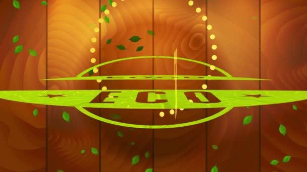 Inertial Bouncing Of Go Green Healthy Nurture Straight mit Mehrwegteil auf dem Etikett für natürliche nachhaltige Öko-Produkte