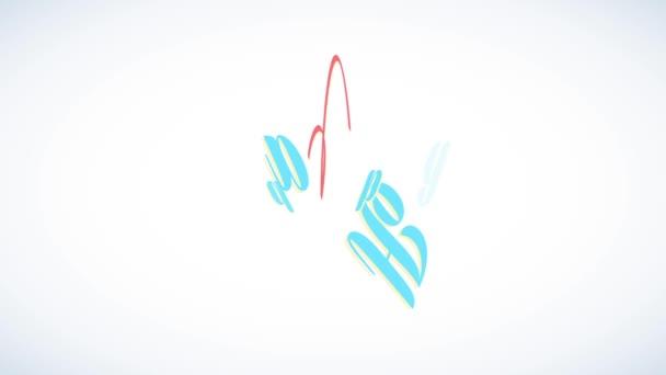 Linear Bounce und Spin Animation Frohe Ostern mit seidenen Schleifen, die moderne kursive Buchstaben umhüllen und typische Feiertags-Überraschungsei formen