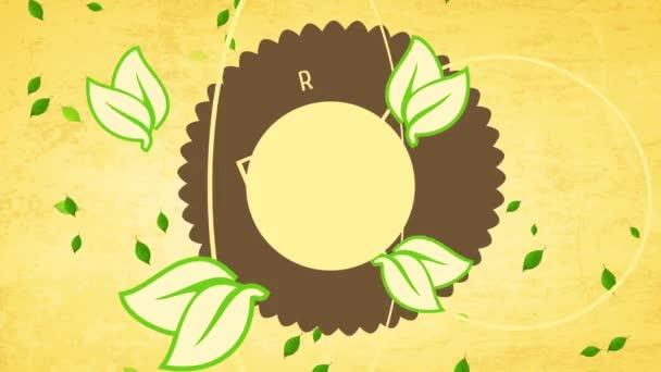 Ugráló Flat Elements Alakítása Követelmény Kupon A Tiszta Vegán Táplálkozás Kerék Mint Szimbólum Újrahasznosított Eco Karton Háttér