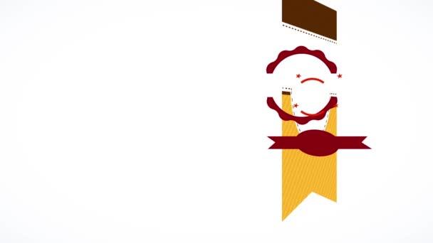 Inerciális mozgása egyszerű elemek alkotó karton díjat nagy értékű kávé termék ötvözi a különböző rétegek és kerek illusztráció izzó teáscsésze
