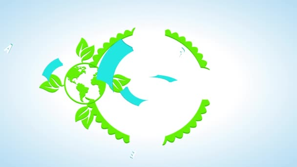 Slowing Down Animation With Springing Effect Of Happy Earth Day Festival Symbol For Natural Resources Conservation And Renewable Energy Creation For Sustainable World