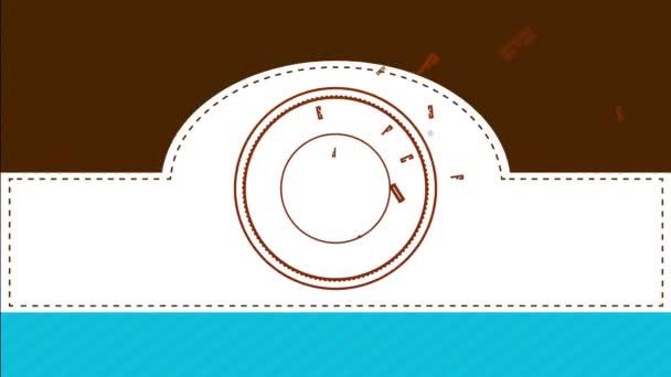 Lassuló animáció tavaszi hatása Professional Cafe Bar Vintage Sign kínál ízletes fekete kávé és forró italok garantálja frissítő és íz