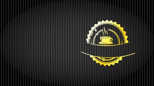 Inerciális mozgása egyszerű elemek alkotó kincs Fancy Value kávé ikon sötét soros háttér Cafe Residence Étkezés Espresso Specialitás
