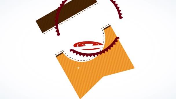 Lelassítja az animáció tavaszi hatása csomagolási téma kávé por készült Arabica bab Dél-Amerikából Gyorsan, hogy készítsen termék