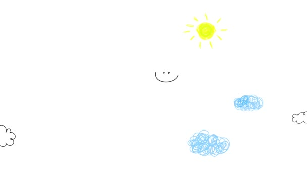 Spring And Bounce Motion Graphics Of Girl Angels Wearing Pink And Yellow Dresses With Cute Blue Wings Taking A Blank Screen Somewhere Grabbing It From Each Tip Flying Above The Sky
