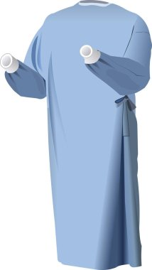 Vector Images of disposable surgical gown for Hospital stock vector