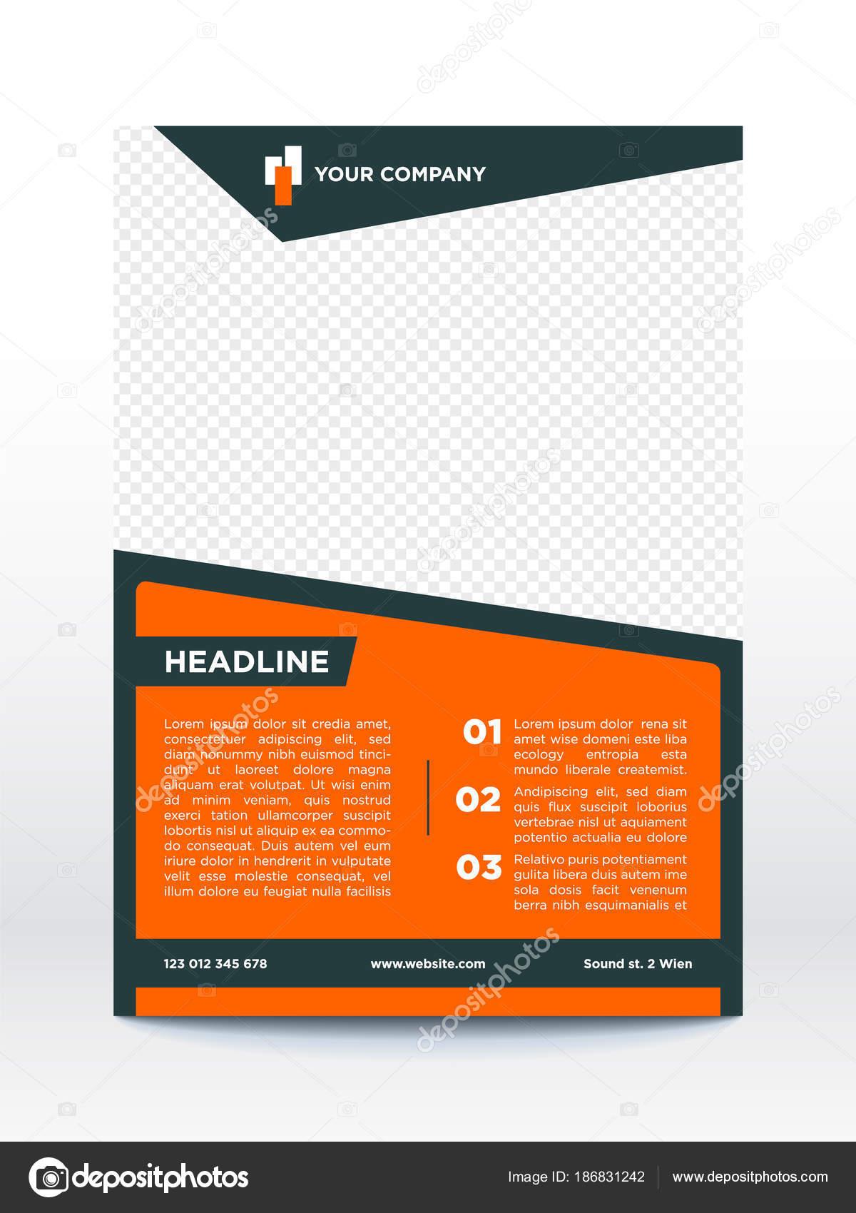 Business Plakat Vorlage Flyer Broschüre Design Layout — Stockvektor ...