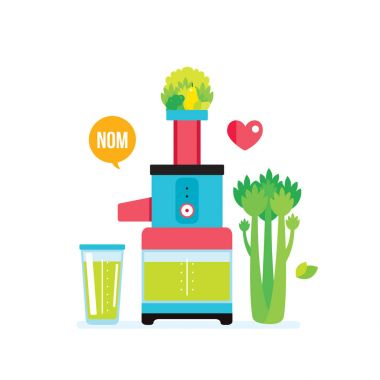 Colorful juicer kitchen appliance
