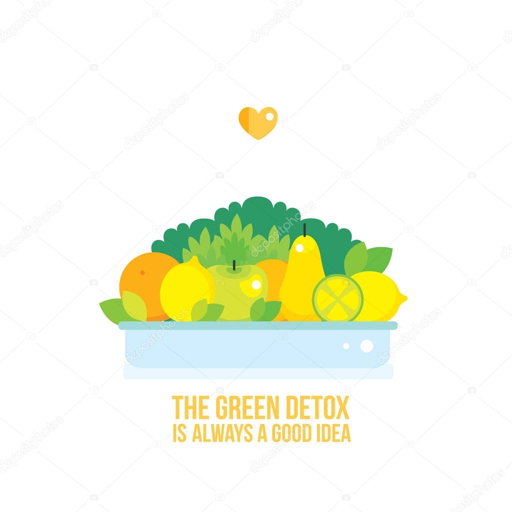 bowl with fresh fruits and vegetables