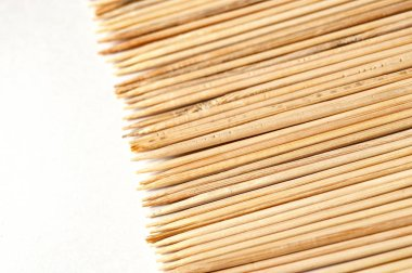 texture of wooden knitting needles horizontal