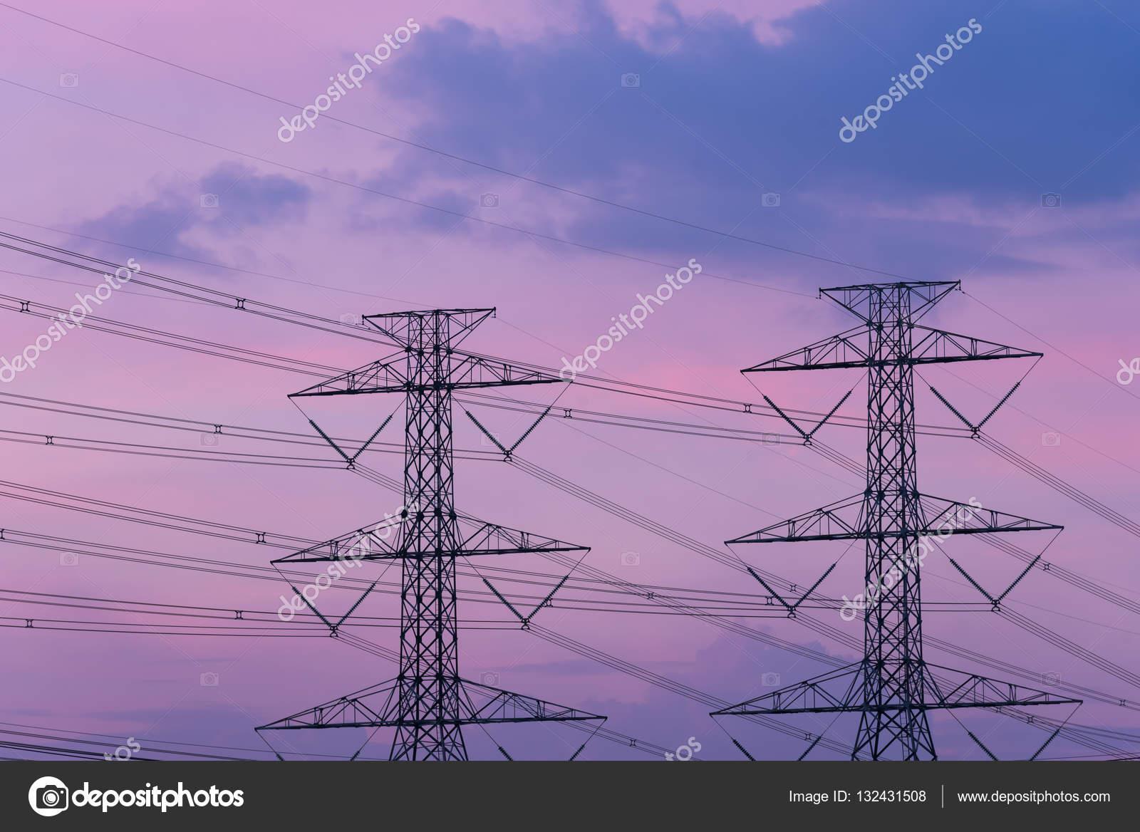 Estructura de poste eléctrico de alta tensión — Fotos de Stock ...