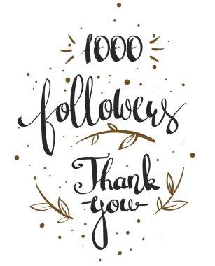 one thousand followers
