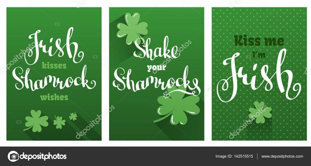 Gruß-und Glückwunschkarten für St. Patricks Day gesetzt ...