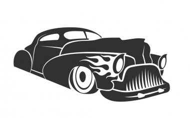Hot rod low rider coupe vector illustration