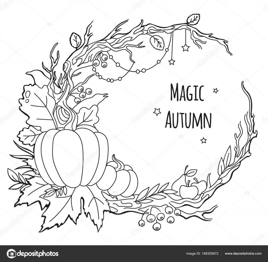 Magic autumn vector frame — Stock Vector © sabbra_cadabra #168305672