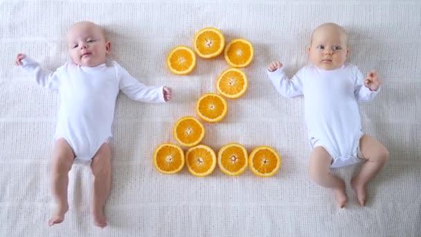 Two Months Beautiful Twin Babies