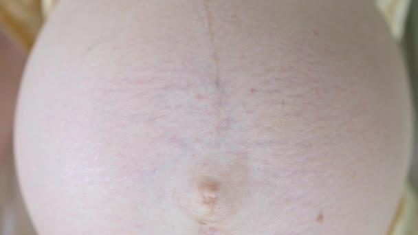Pregnant Woman Abdomen, Belly, Tummy Closeup.
