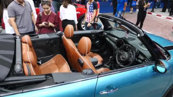 New Mini Cooper Cabrio Presented At Car Show.