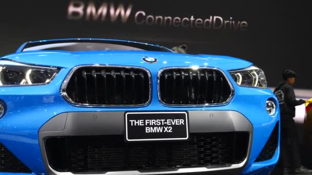 Closeup Of Bmw X2 Car Front At Motor Show. Bangkok, Thajsko - 8. dubna 2018.