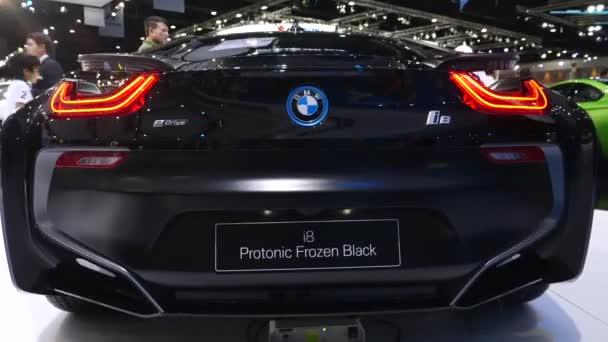 Closeup of Luxury Bmw i8 Car Displayed At Motorshow.