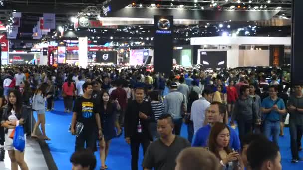 International Motorshow. Cars Show Room. Customers Shopping For Car.