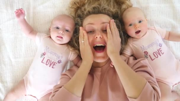 Mother Going Crazy With Her Cute Twin Babies.