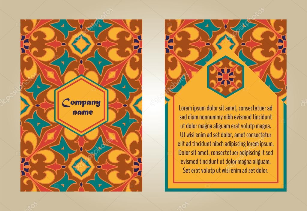 vector set of colorful brochure templates for business and