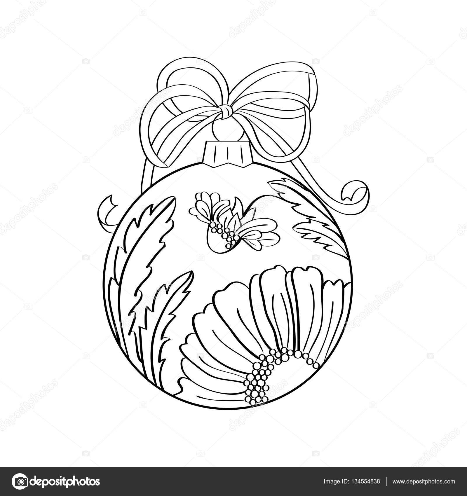 Vector de bola de Navidad con adornos de verano interior ...